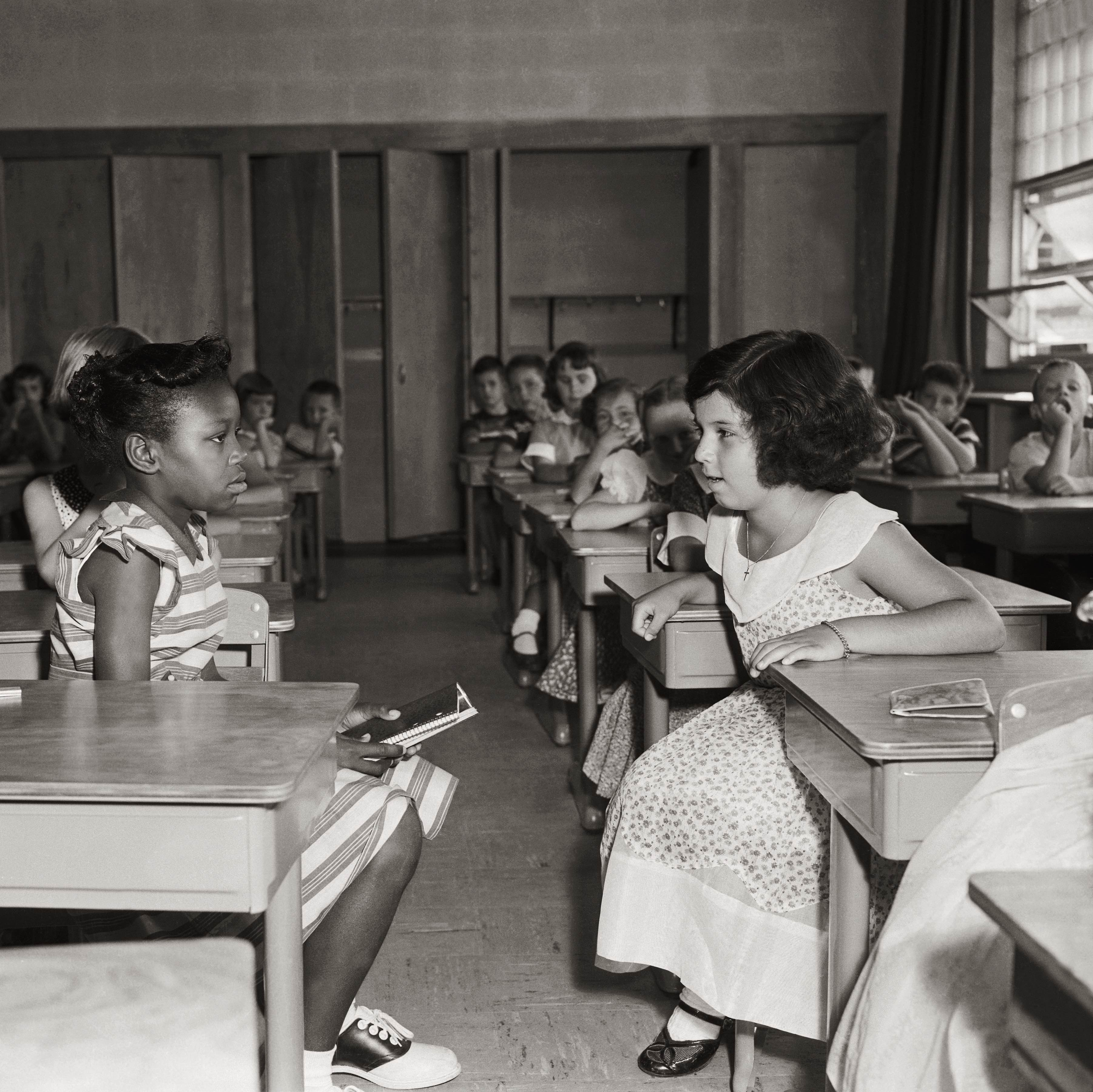 an analysis of the brown vs board of education case on racial segregation in public schools in the u Board of education decision that separate but equal schools for black children were unconstitutional, in washington on may 17, 1954 ap file get the think newsletter.
